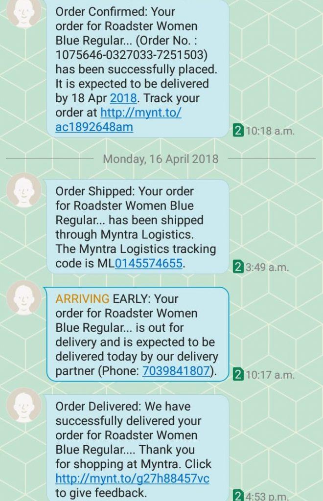 order update